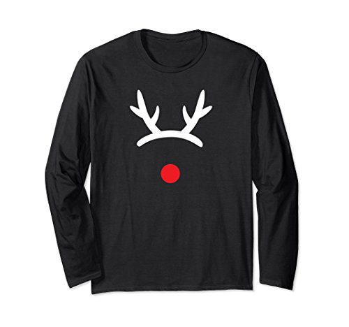 Reindeer Hooves Costume (Unisex Reindeer Antlers Headband Red Nose Christmas Costume T-Shirt Small)