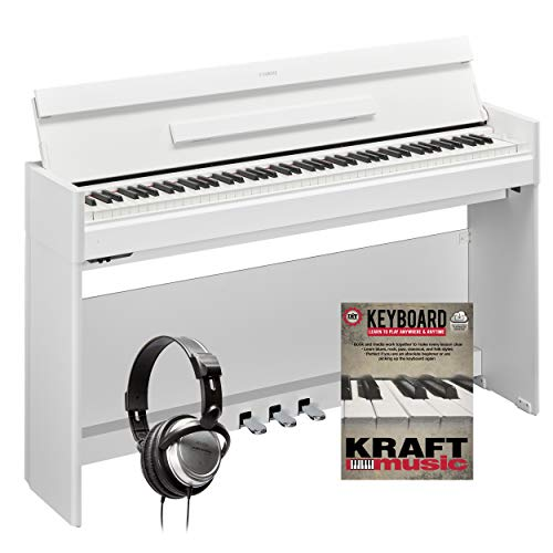Yamaha Arius YDP-S54 Digital Piano – White with Headphones and Lesson Book