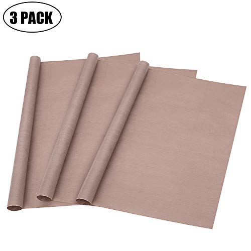 3 Pack Teflon Sheet for Heat Press Transfer Sheet Non Stick PTFE About 16 x 20