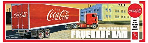 Van Trailer Kit - AMT 1109 1/25 Fruehauf Beaded Van Semi Trailer Coca-Cola