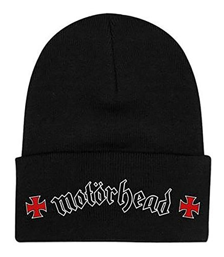 Motorhead Iron Cross Logo Fold Cuff Knit Cap Beanie