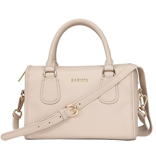 Banuce Small Leather Handbag for Women Tote Shoulder Crossbody Bag Satchel Purse ()