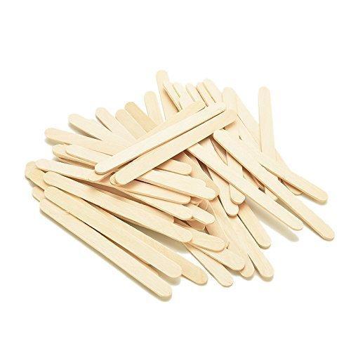 Butterme 100pcs B/âtonnets en bois B/âtons De Glace Art Artisanat B/âtons En Bois pour bricolage