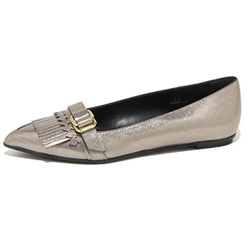 9231N ballerina TODS FRANGIA ANELLI grigio perla scarpe donna shoes women grigio perla