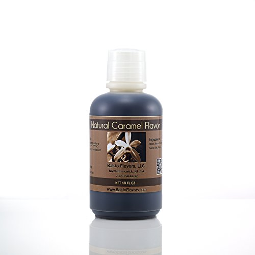 Bakto Flavors Food Services Line - Natural Caramel Flavor - 18 FL OZ (Caramel Natural)