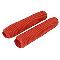 Pair 38cm Long Front Fork Cover Shock Absorber Dust Rubber Cover Red