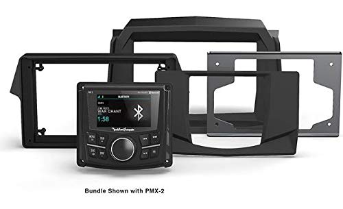 8 Dash Kit - Rockford Fosgate RFRZ14-PMXDK 2019 RZR Dash Kit Four-Way Mounting Kit Ror PMX-2, PMX-3, or PMX-8 Marine Receivers