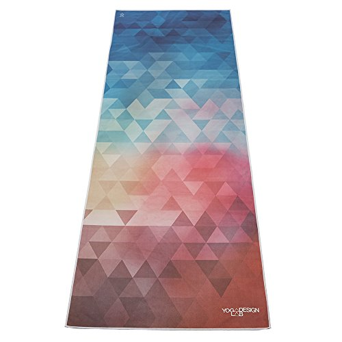Tribeca Love Hot Yoga Towel. Eco-friendly, Lightweight, Insanely Absorbent, Non-slip, Microfiber, Dries in Minutes. Ideal for Bikram, Hot Yoga/Pilates. Machine Washable. Printed w/ Water Based Inks.