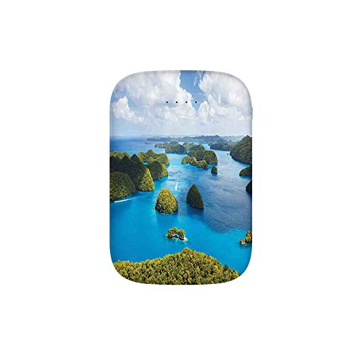 View of Palau Islands from Above Traditional Touristic Greenery Scenic Sea Portable Charger 8000mAh Power Bank External Battery Backup Pack Fast Charger for iPhone,Samsung Galaxy and More