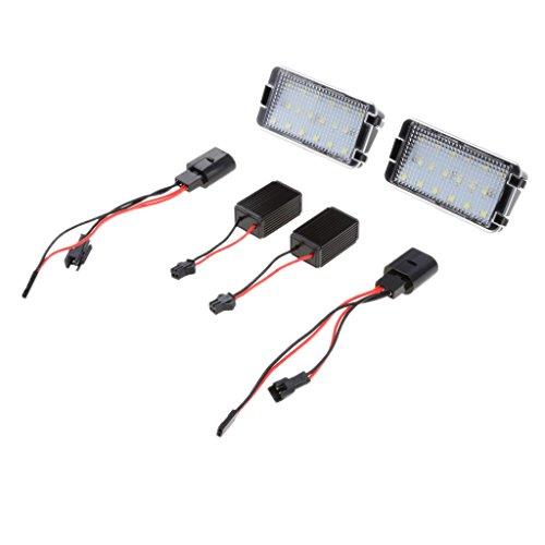 MagiDeal 2 Pieces 18 LED License Plate Light Lamp For SEAT Ibiza Cordoba Leon Toledo III