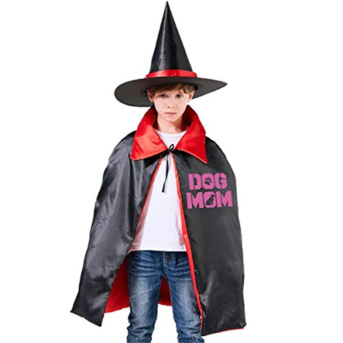 Dog Mom Kids Halloween Costumes Witch Wizard Cloak With Hat Wizard Cape Party ()