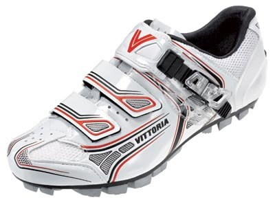 Vittoria Drehmoment Weiß/Rot Schuhe EUR 45, weiß/rot