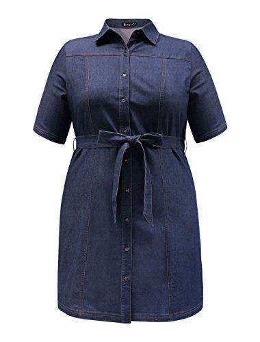 Buy belted denim shirt dress - 8