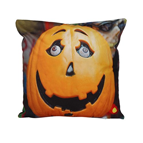 Gotd Halloween Pillow Cover Cushion Decorations (D) -