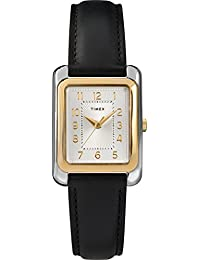 Women's TW2T28900 Meriden Black/Two-Tone Leather Strap Watch