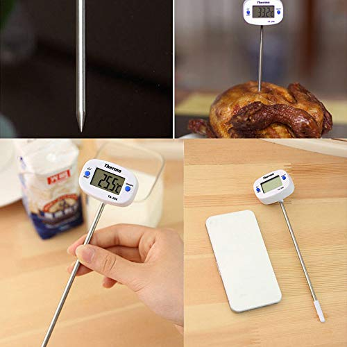 Poit Digital Meat Thermometer Candy Thermometer Food Thermometer Grill BBQ Oven Thermometer, Instant Read Thermometer, Large Screen