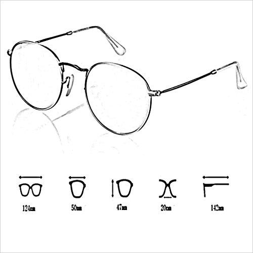 de Puede Gafas Redondo equipar de Sol de de polarizada Marco la del luz Gafas Circulares Color HOME la 3 QZ Miopía La se Las Vendimia Pequeño 1 qUxORTwEa