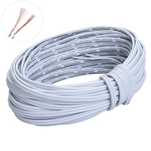 - 20m(66ft) 20AWG 2Pin Extension Cable Wire Cord Line for Single Color LED Strip Ribbon Lights 3528 5050,2 Wire 20-Gauge Parallel Wire