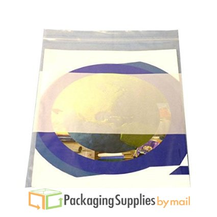 Reclosable Bag with White Block Plastic Zipper Bags 2 Mil Thick 6'' x 8'' 5000 Pieces by PSBM by PackagingSuppliesByMail