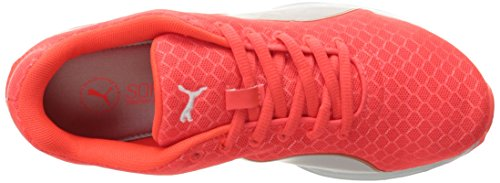 Puma Women's Burst Metal WN's Running Shoe, Quarry Silver, US Red Blast/Puma Silver