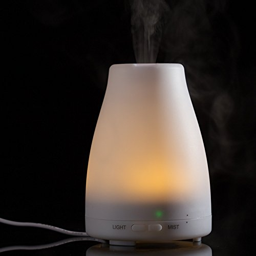 ZJKC 100 Milliliter Essential Oil Diffuser 7 Colors Changing Aromatherapy Ultrasonic Air Humidifier with LED Lights, Cool Mist Diffusers for Home Photo #6