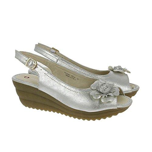 Heavenly Feet Plata Sandalias de Renee 2 Plata