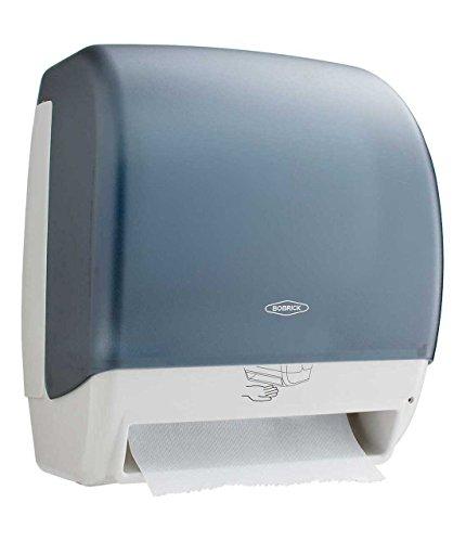 Bobrick Washroom Equipment B-72974 Plastic Automatic Roll Towel Dispenser - Translucent - Smoke & Gray ()