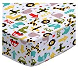 SheetWorld Fitted Basket Sheet 13 x 27 - Cars & Animals - Made In USA