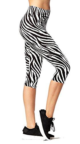 Zebra Print Spandex Leggings - 6