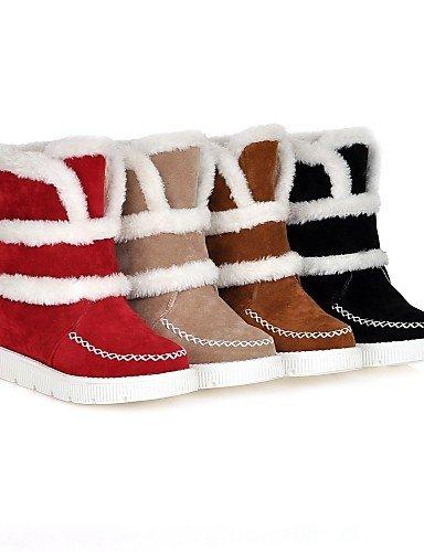 La Uk8 Redonda Casual Moda Vestido 5 Uk3 Beige Red Xzz 5 Cn43 negro us5 Amarillo Eu42 Vellón Zapatos A Nieve De Mujer 5 Plataforma us10 Eu36 Botas Cn35 Punta 5 wzq07RwP