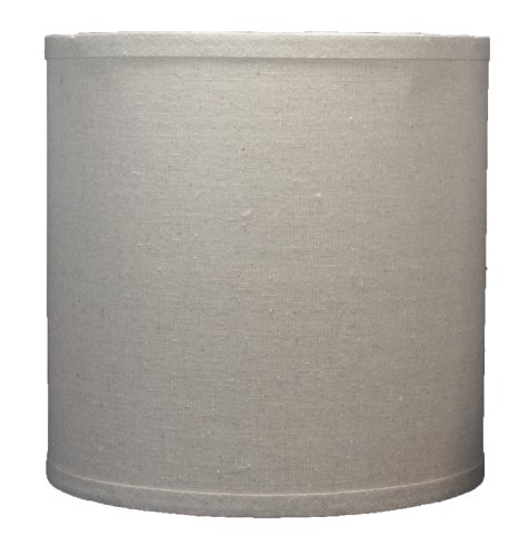 Urbanest Linen Drum Lamp Shade, 10-inch by 10-inch by 10-inch, Natural, -