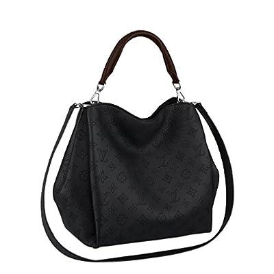 Louis Vuitton Mahina Calf Leather Babylone PM Noir Shoulder Handbag M50031 Made in France