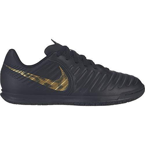 Nike Kids Jr LegendX 7 Club (IC) Indoor Soccer Shoe Black/Metallic Vivid Gold Size 13.5 Kids US ()