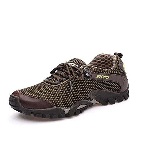 Donna Scarpe Outdoor Escursionismo Sneakers Running WANPUL Uomo Mesh Suola Antiscivolo Trekking Cachi da da Respirabile Basse da Casual Corsa Ov58qvw