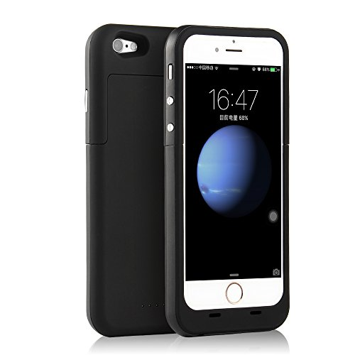 3800mah External Battery Case iPhone 6/ iPhone 6s (Black) - 1