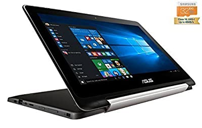 Asus TP200SA-UHBF Flip Transformer Book 2-in-1 Convertible Touchscreen Ultrabook Laptop Tablet (Intel Celeron Dual-Core N3050, 2GB DDR3L 32GB eMMC + 32GB MicroSDHC, Windows 10 Home 64-Bit)
