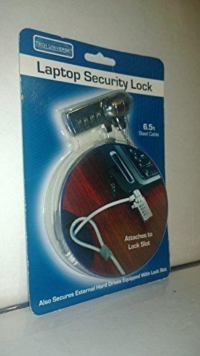 Tech Universe Laptop Security Lock 6.5 Feet Steel Cable