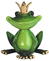 Individual Green King Frog Figurine