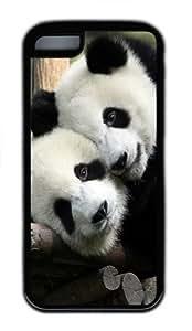 Panda Love TPU Case Cover for iPhone 5c Black