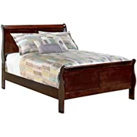 Ashley Furniture Signature Design - Alisdair Traditional Sleigh Bedset  - Full Size Bed - Dark Brown