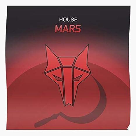 Brown Howlers House Darrow Mars Rising Wolf Howler Red Pierce Regalo para la decoración del hogar Wall Art Print Poster 11.7 x 16.5 inch