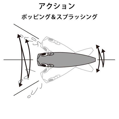 Red Head Yo-Zuri R1151-RH Hydro Popper Floating Lure