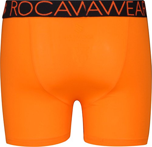 Rocawear Boy's 4 Pack Performance Boxer Brief, Camo and Orange, Small/7-8' by Rocawear (Image #4)