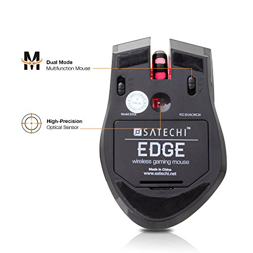 Satechi Edge Wireless Gaming Mouse 800 DPI, 1600 DPI, 2400 DPI, 4000 DPI with 500Hz Return Rate (Battery Powered) by Satechi (Image #4)