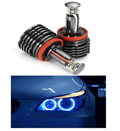 ICBEAMER Fit Auto BMW Canbus No Error Free Angel Eye Headlight E92 H8 Halo Ring LED Replace Halogen Bulb Color: Blue