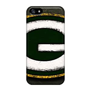 RitaSokul Iphone 5/5s Perfect Hard Phone Covers Unique Design Stylish Green Bay Packers Pattern [wky6617ECHG]