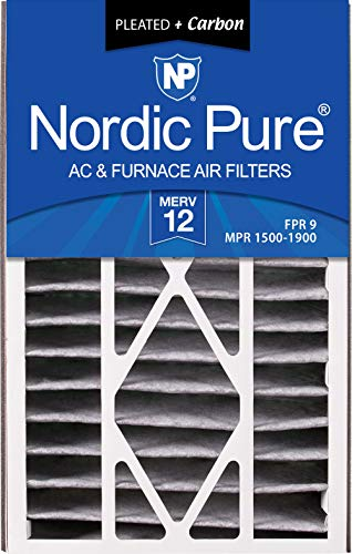 Nordic Pure 16x25x5 (4-7/8 Actual Depth) MERV 12 Pleated Plus Carbon Trion Bear 259112-105 Replacement AC Furnace Air Filter