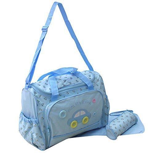 XXL 3pièces bébé couleur Bleu clair Sac à langer sac sac à langer Baby Sac Voyage Sélection de couleurs GMMH