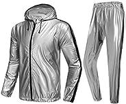 MulYeeh Saunasuit Sweat Suit Heavy Duty Full Zip Sauna Suit Fitness Exercise Gym Suit for Men Women