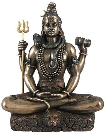 Shiva Idol Dieu hindou Shiva Padmasana Lotus pose assis Shaiva Statue D/écor cadeaux